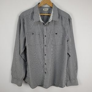 Reaction Kenneth Cole gingham button up shirt